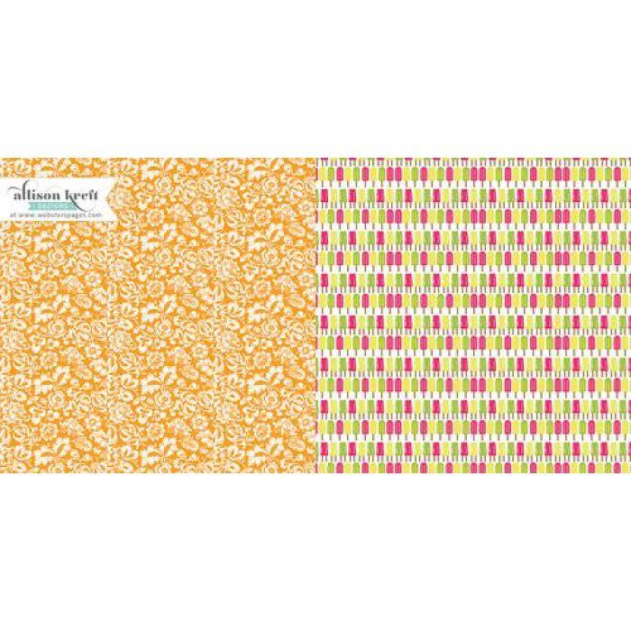 Бумага Creamsicles, коллекция Sweet Notes для скрапбукинга
