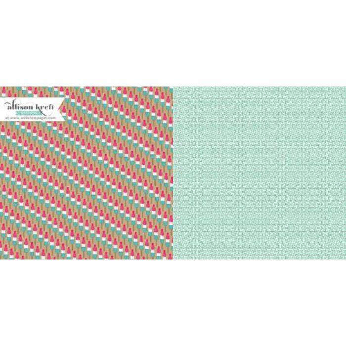 Бумага Ice Cream Truck, коллекция Sweet Notes для скрапбукинга