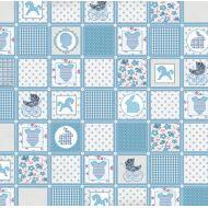 Бумага  Голубое одеяло, коллекция Малыш и малышка