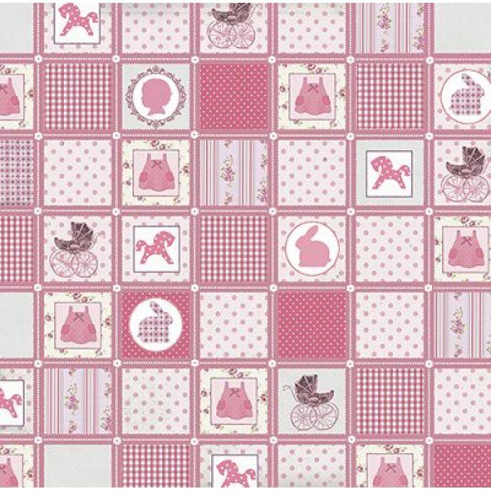 Бумага Розовое одеяло, коллекция Малыш и малышка для скрапбукинга