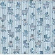 Бумага Голубые коляски , коллекция Малыш и малышка