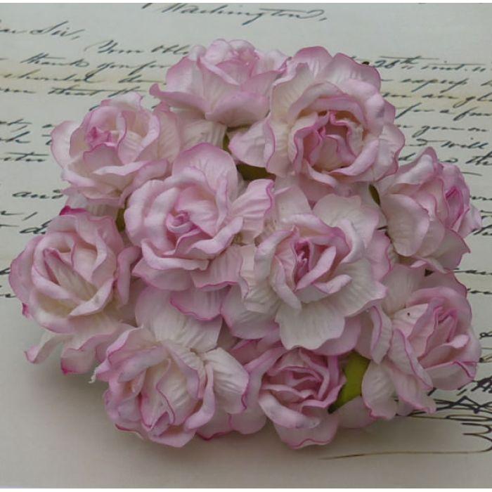 Роза дикая нежно-розовая, 40 мм для скрапбукинга
