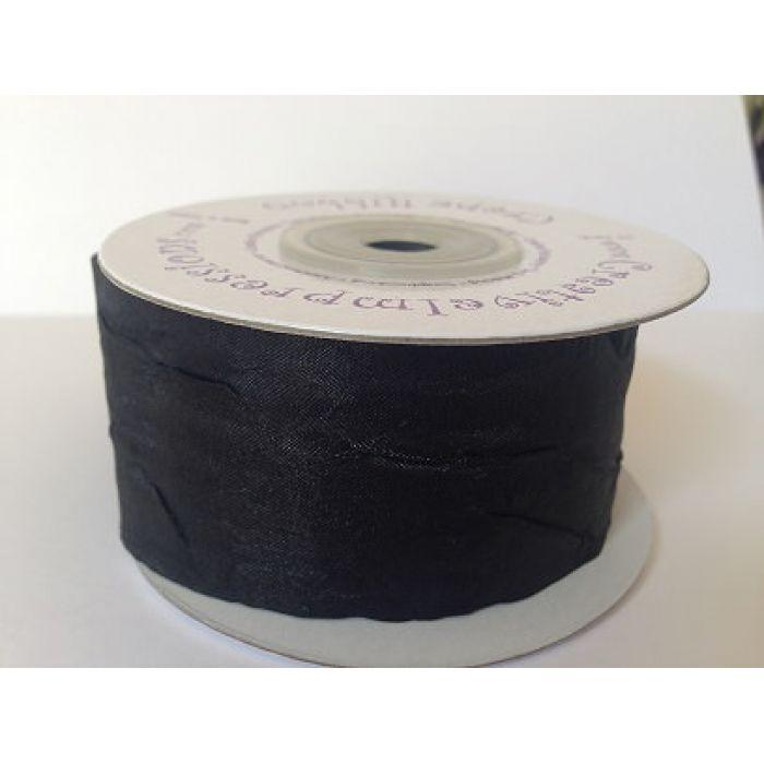 Креповая лента черная, 38 мм для скрапбукинга