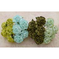 Розы чайные зеленого оттенка, 40 мм