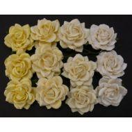 Розы, бело-кремовая смесь, 40 мм