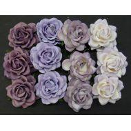 Розы шпалерные фиолетово-лиловая смесь, 40 мм