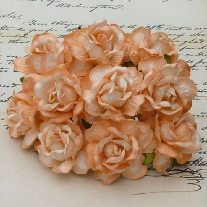 Роза дикая персиковая, 40 мм для скрапбукинга