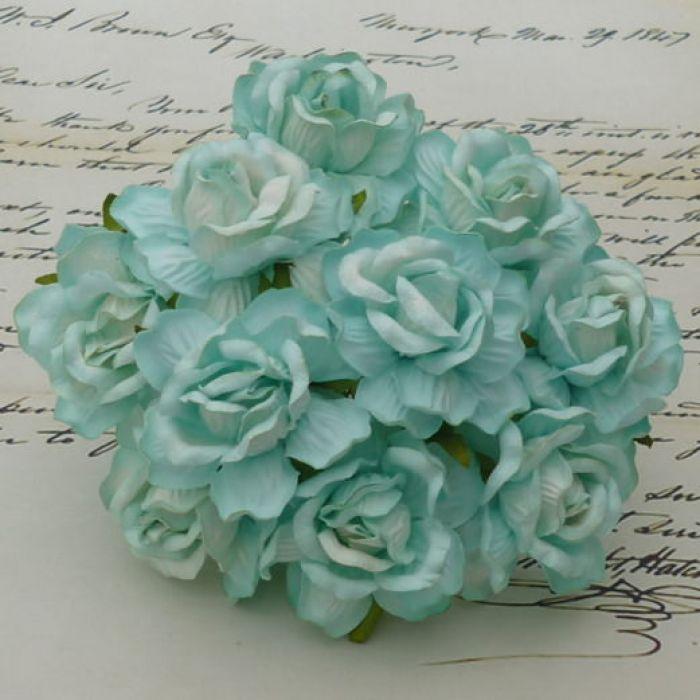 Роза дикая голубая, 40 мм для скрапбукинга