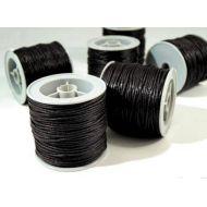 Чёрный вощёный шнур