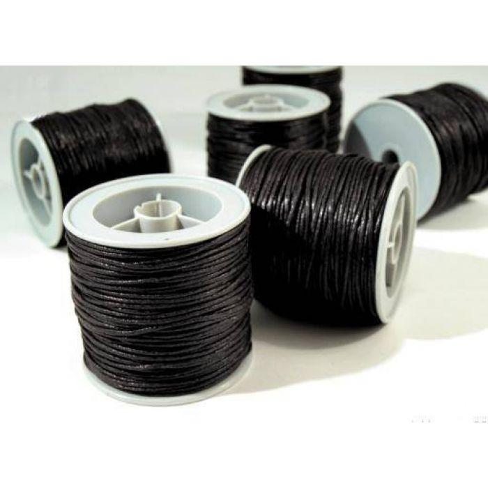 Чёрный вощёный шнур для скрапбукинга