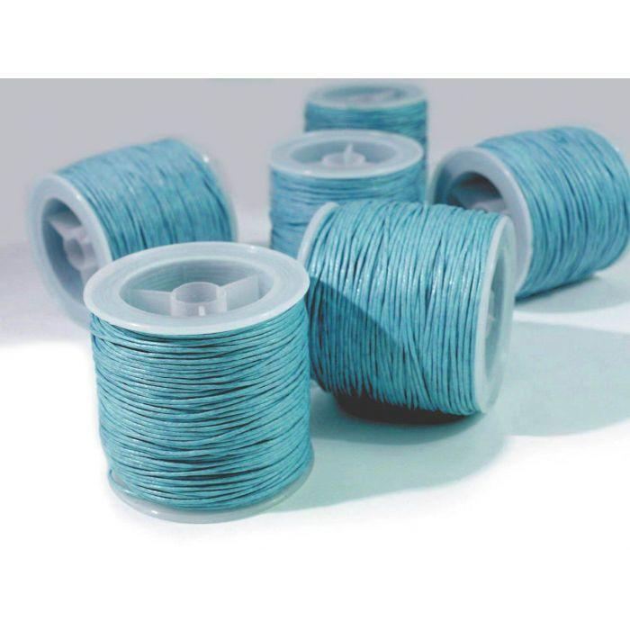 Голубой вощёный шнур для скрапбукинга