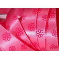 Лента сатиновая розовая