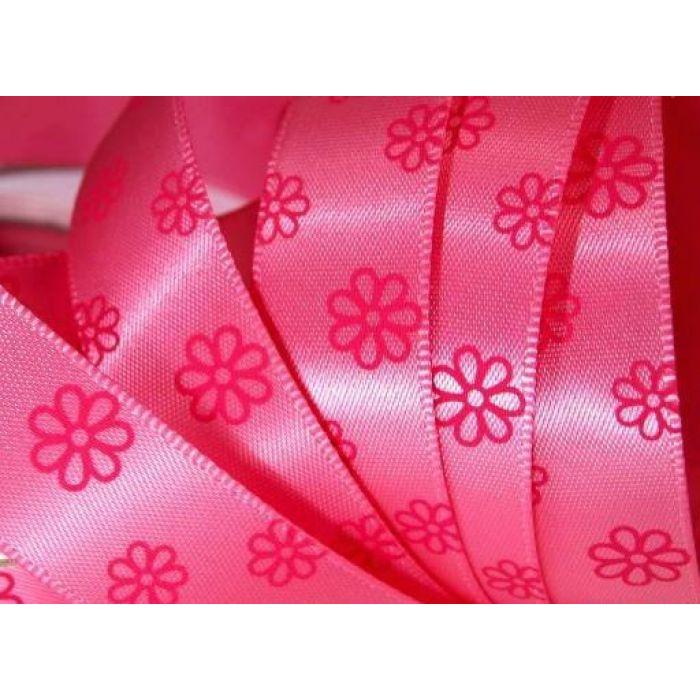 Лента сатиновая розовая для скрапбукинга