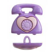 """Пуговица """"Телефон"""" фиолетовый, 25 мм"""