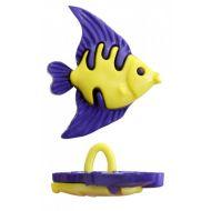 Пуговица Рыбка синяя, 21 мм