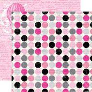 Бумага, коллекция  Be Mine, Script Polka Dot