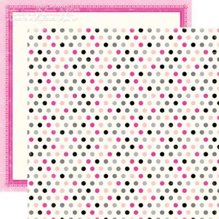 Бумага, коллекция  Be Mine, Precious Polka Dots для скрапбукинга