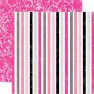 Бумага, коллекция  Be Mine, Sweet Stripes