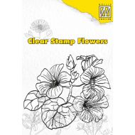 Штамп цветы гибискус