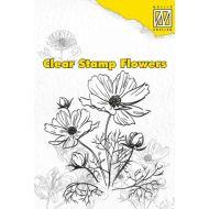Штамп цветы анемоны