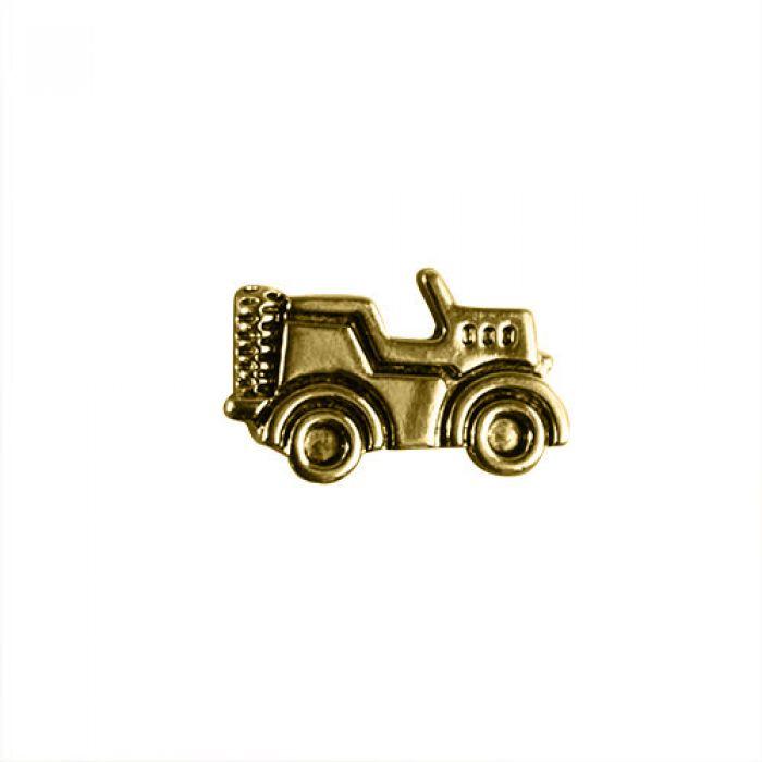 """Пуговица """"Машинка"""" золотая, 18 мм  для скрапбукинга"""