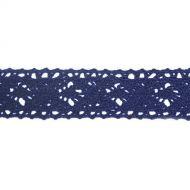 Кружево хлопчатобумажное синее, 20 мм
