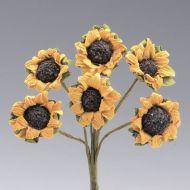 Бумажные цветочки Подсолнухи, 2 cм