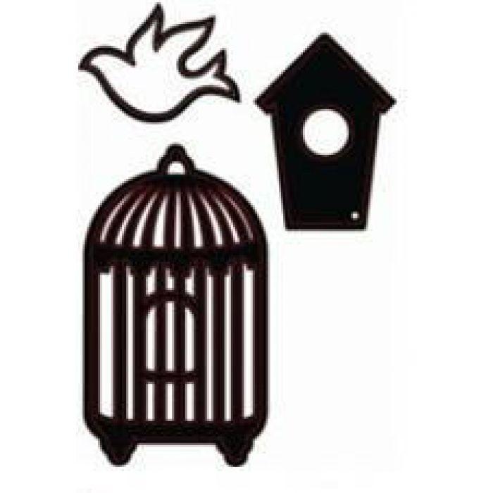 Форма для вырубки Набор Птичка для скрапбукинга
