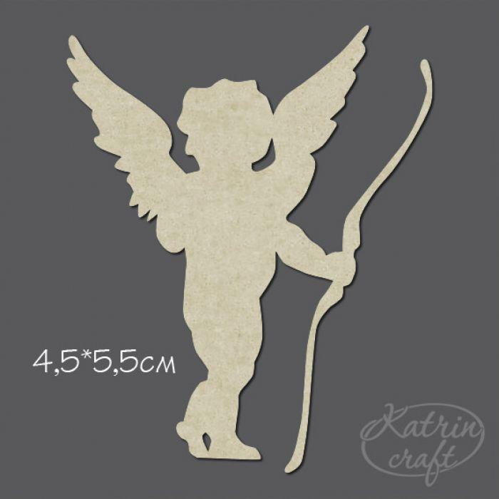 Чипборд ангел с луком для скрапбукинга