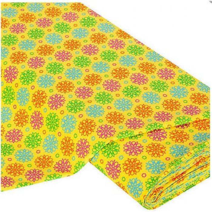 Отрез ткани Зодиак, цвет желтый для скрапбукинга