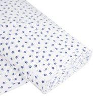 Отрез ткани Мини-цветы, синий / белый