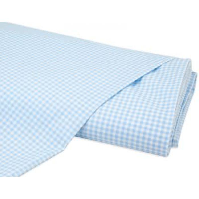 Отрез ткани Клетка светло-голубой / белый для скрапбукинга