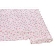Отрез ткани Уточки белый / розовый