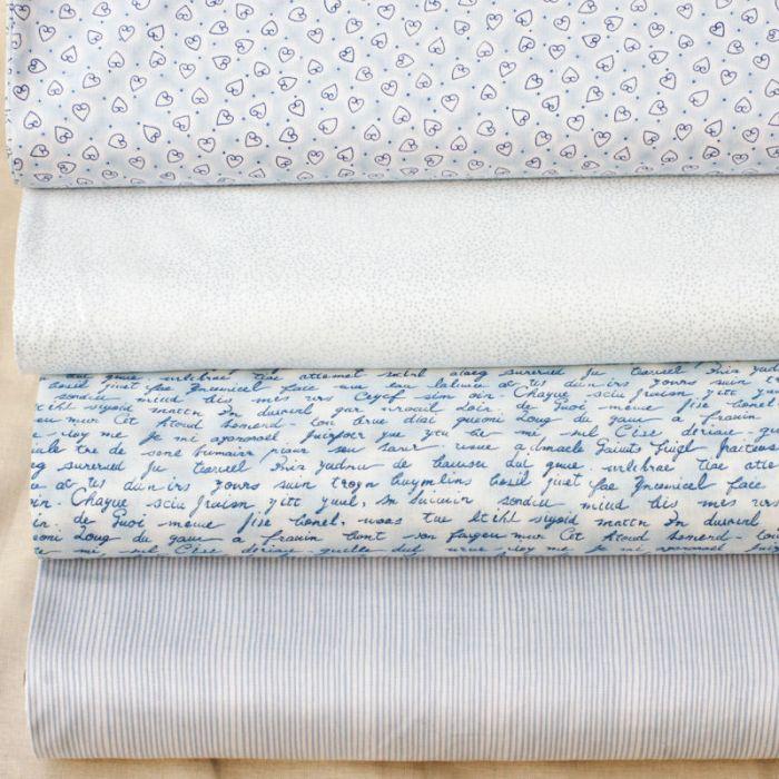 Набор ткани голубой Basic для скрапбукинга