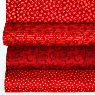 Набор ткани  бордовый Basic