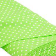 Отрез ткани Горох зеленый и белый