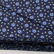 Отрез ткани Цветочный темно-синий