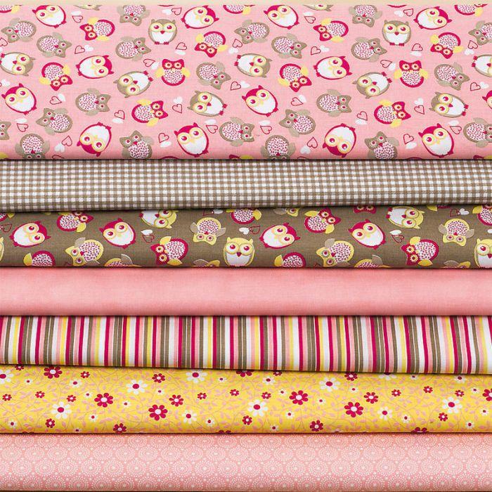 Набор ткани Сова Ханна для скрапбукинга