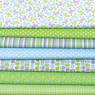 Набор ткани Летний зеленый / синий