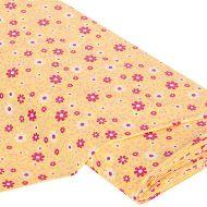 Отрез ткани Цветы желтый / красный