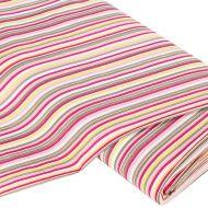 Отрез ткани Полосы, розово-коричневые