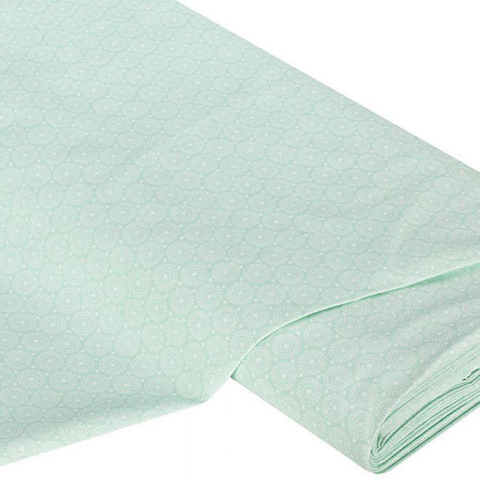 Отрез ткани Круги, цвет мятный для скрапбукинга