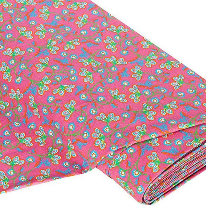 Отрез ткани Цветы, розовый цвет для скрапбукинга