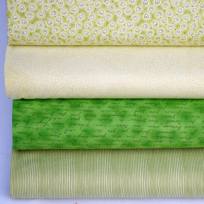Набор ткани светло-зелёный Basic для скрапбукинга