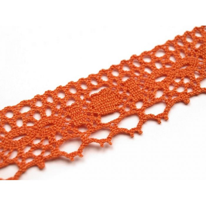 Кружево хлопчатобумажное оранжевое для скрапбукинга