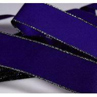 Лента тафтовая с люрексом синяя, 25 мм