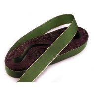 Лента зеленая тафтовая с люрексом, 15 мм