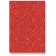 Бумага с вырубными розами, красная