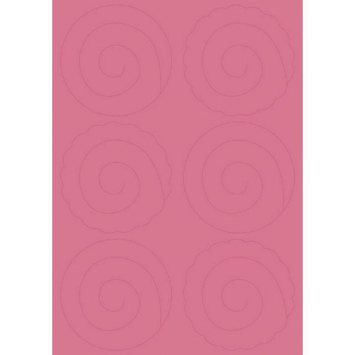 Бумага с вырубными розами, ярко-розовая для скрапбукинга