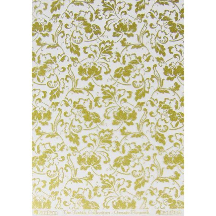 Ацетатный лист с рисунком Золотые цветы для скрапбукинга